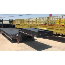 4-line 4-axles gooseneck low bed نصف مقطورة