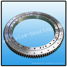 Single row four contact ball slewing bearing for sand mixer