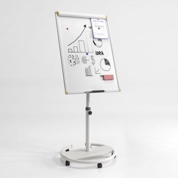 Mobile White Board Flip Chart Easel in Office