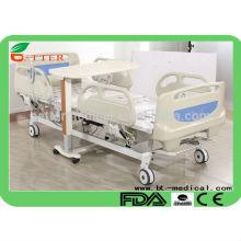 Cama de hospital elétrica de 5 funções com sistema de freio central