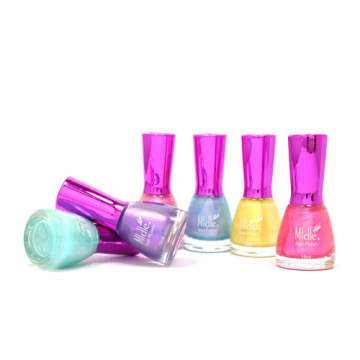Color de arco iris Conch Shell Esmalte de uñas Pearly Shining