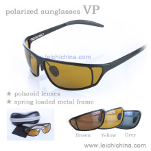 Lunettes de soleil polarisées à la mode Lunettes de soleil en métal