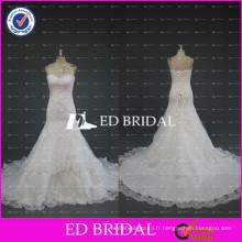 ED Mariée en perles en dentelle Appliqued Satin Sweetheart Mermaid Robe de mariée Robe de mariée