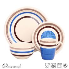 16PCS High Quality Handpainted Blue Ceramic Dinner Set