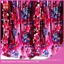 flanelle en gros tissu imprimé 100% polyester