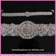 LB0001 Quality fabric best handmade High end woman rhinestone belt sash embellished wedding dress belts