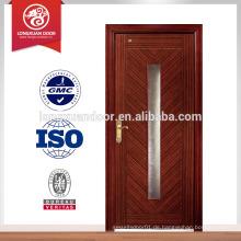 Innen-Glas-Design Holz Tür, Schlafzimmer Interieur Massivholz Tür