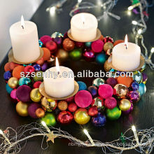 LED candlestick plastic Christmas candle ball wreath