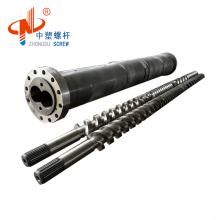 Pellets Scarp Parallel Twin Screw Barrel Cylinder for Plastic PP PVC extrusion