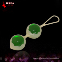 Силиконовые вагинальные сгибающие игрушки Массаж Любовный бал для женщины (DYAST403)