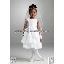 Vestido de noiva Vestido de florista barato de 9 anos de idade Vestido encantador de florista para casamento