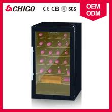 Réfrigérateur de type de réfrigération directe disponible de type simple 24 de réfrigérateur de vin de capacité de bouteilles d'OEM avec la poignée de porte d'acier inoxydable