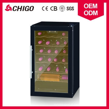 Refrigerador direto disponível refrigerando do vinho da capacidade das garrafas da única zona do compressor 24 do OEM com o punho de porta de aço inoxidável