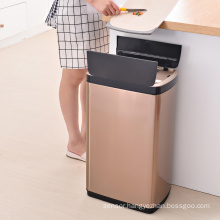 Smart waste bin 30L metal trash bin garbage can kitchen trash can stainless steel sensor trash can
