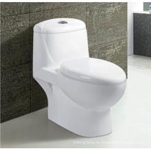 Badezimmer-Sanitär-Toilette mit Siphonic-Keramik, weiß, mit WC-Sitz