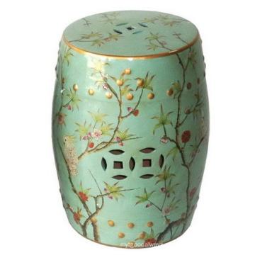 Fezes de porcelana verde vitrificada