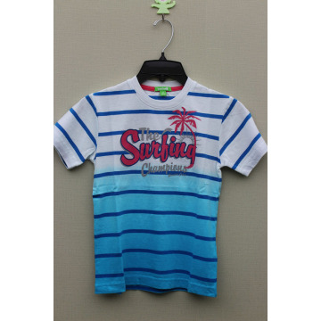 BOY'S 100% Cotton Hang Dyed T-Shirt with Print