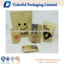 2015 resealable personalizado impresso metalizado stand up pouch
