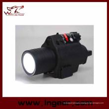 M6 6V 180lm Qd LED lanterna tática & Mira Laser vermelho luz branca