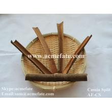 Food ingredients cassia split cinnamon
