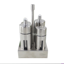 Stainless Steel Condiment Cruet Set with Stand