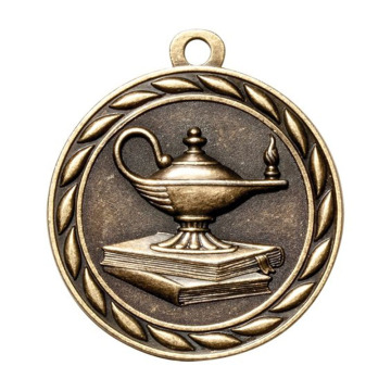 Academic Lamp of Knowledge Metal Medals