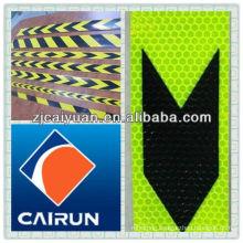 fluorescent yellow reflective sticker
