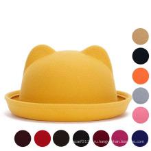 Леди Мода Симпатичные простые трикотажные зимние теплые ведро шляпа (YKY3234)
