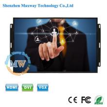 12v DC écran large écran large 17 pouces moniteur tactile avec des boutons de menu