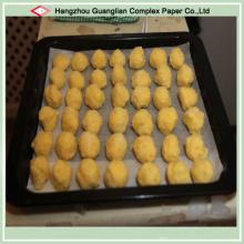 Papier antiadhésif enduit de silicone de preuve de graisse pour la cuisson