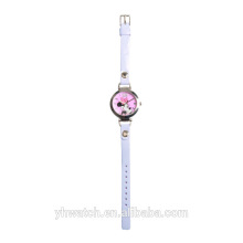 Mickey Mouse Soft Leather Band Pink Baby Watch