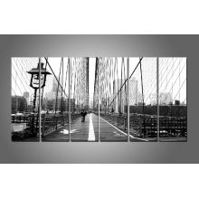 6 Panels London Bridge Picture Print, Schwarz-Weiß-Drucke, Wall Art Decor