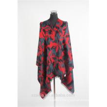 Fashion ladies printed cashmere poncho