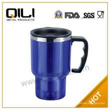 16oz with Handle Stainless Steel Auto Mug