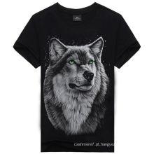 Moda Personalizado 3D Impressão Barato T-Shirt de Algodão / Camiseta / Camiseta