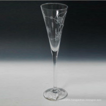 Mouth Blown Champagne Flute with Printing