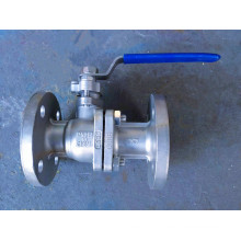 2PC Stainless Steel Industrial Flange Float Ball Valve (Q41)