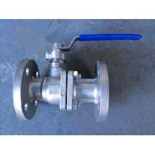Válvula de esfera industrial de aço inoxidável da flange da flange 2PC (Q41)
