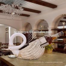 Geschenk für Liebhaber romantisches Abendessen Zuhause Dekoration Luxus Hochwertige Schwan Weinregal