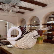 Gift for lovers romantic dinner home decoration luxury high quality swan wine rack