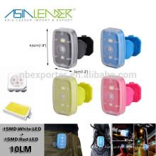 15 horas de iluminación continua Powered By 3.7V 2.5mah Li-polímero de la batería de plástico LED Light USB