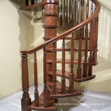 Indoor Spiral Oak Solid Wood Staircase Prices