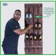 Robustes über der Tür hängendes Schuh Organizer mit 24 großen Netztaschen