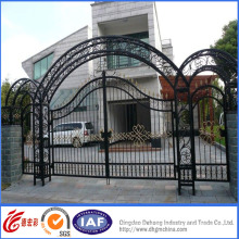 Porta de segurança elegante de alta qualidade galvanizada do ferro forjado
