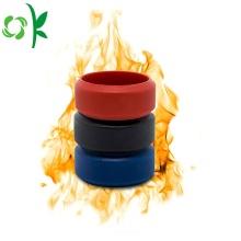 Anneaux de silicone communs de marque personnalisée anneaux ronds estampés