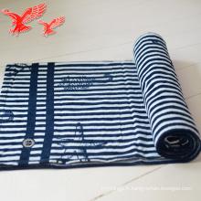Serviettes personnalisées épaisses bleu et blanc avec des glands