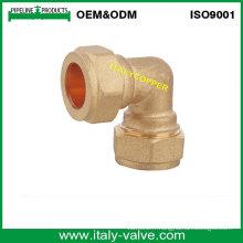 OEM & ODM Qualité Brass Forged Compression Equal Elbow (AV7008)