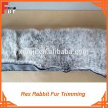Factory teñido de dos tonos de color Rex Rabbit Fur Trimming