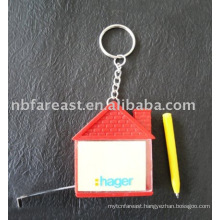 memo tape measure with keychain