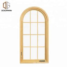 Texas CSA / AAMA / NAMI Сертификация Арочные окна из массива дерева с колониальными решетками Арочные деревянные двери и оконные рамы